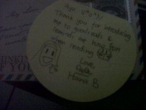 Surat kecil dari Hana :D